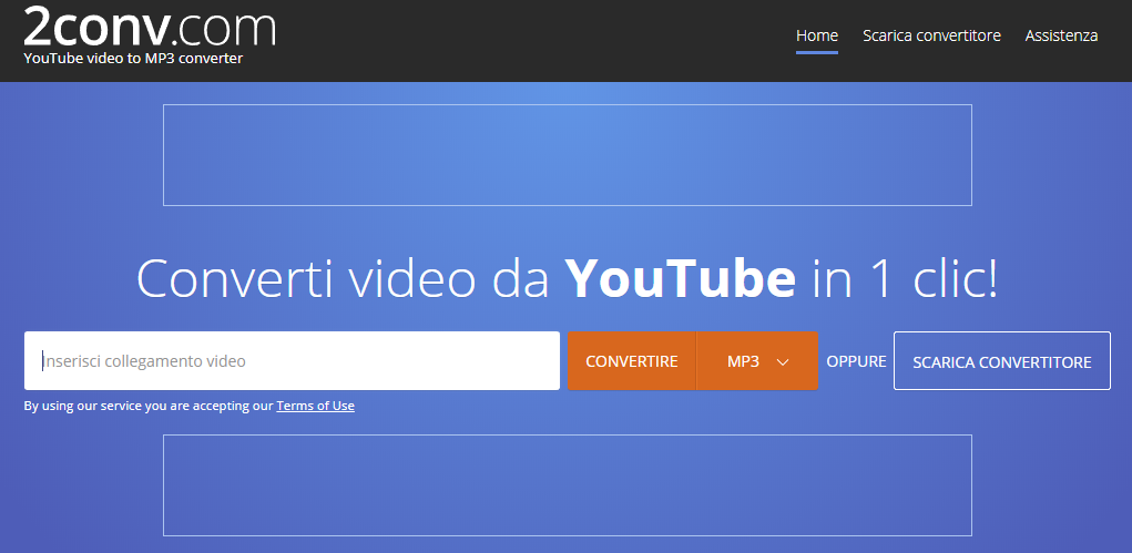 i video da youtube e convertirli in mp3