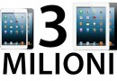 Apple ha venduto 3 milioni di iPad mini ed iPad 4 in tre giorni