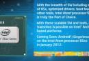 I nuovi processori Intel Atom supporteranno ufficialmente Gingerbread 2.3