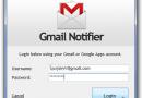 Notifiche Gmail direttamente sul desktop con Gmail Notifier