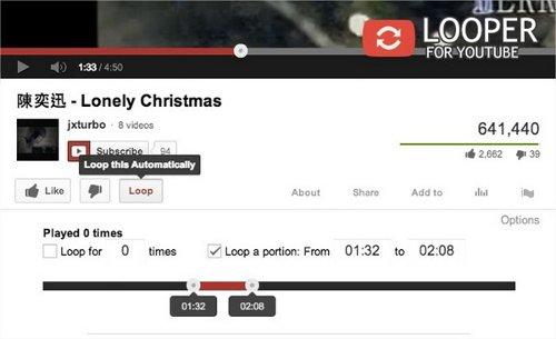 Looper-for-YouTube-loop