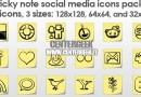 Raccolta gratuita di icone genere Post-It