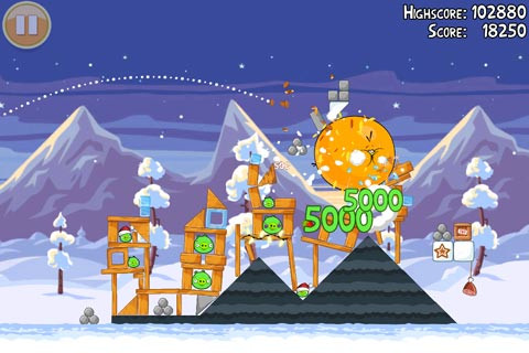 angry birds seasons natale