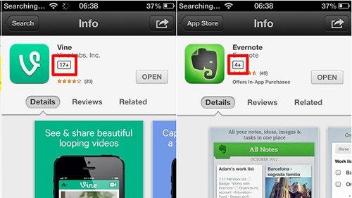 app-store-etichette
