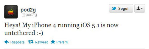 Pod2G jailbreak untethered iPhone 4 ios 5.1