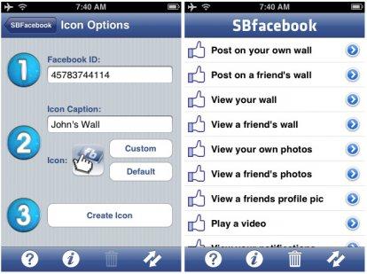 SBFacebook su iPhone con Cydia