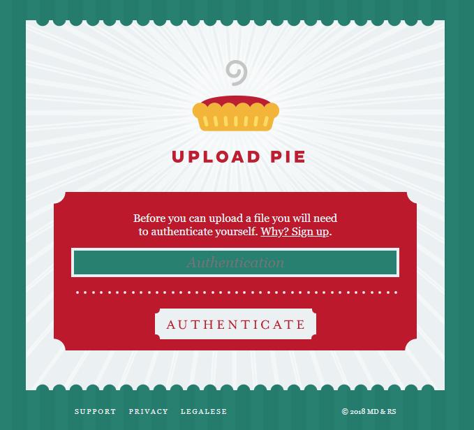 upload pie